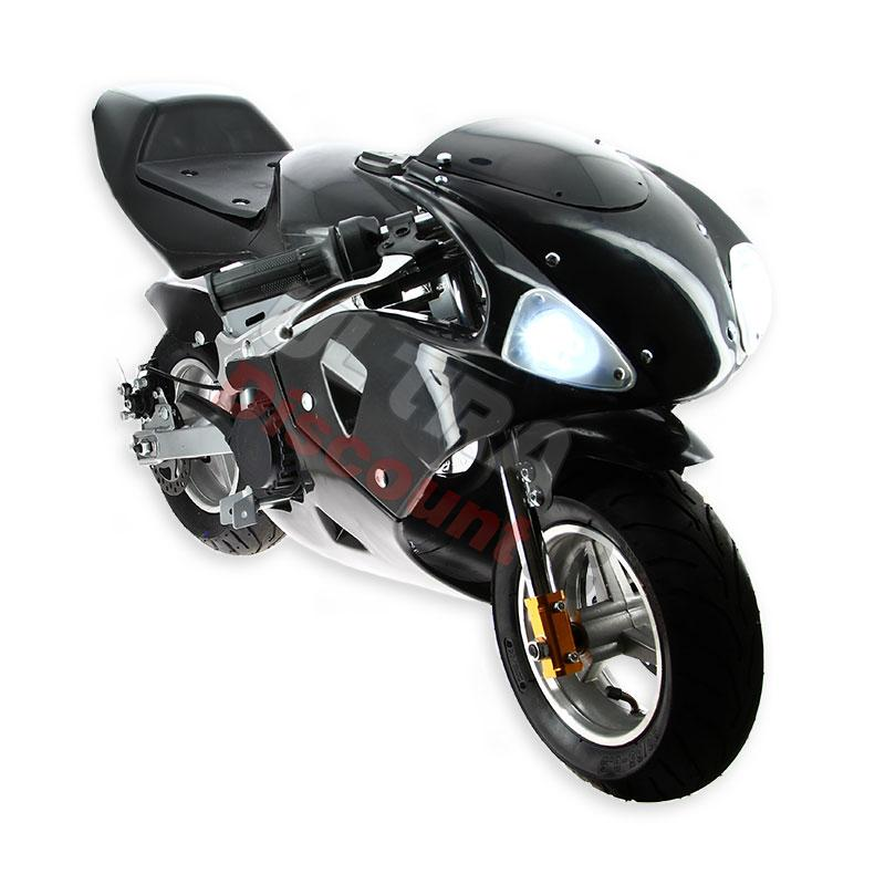 pocket bike 49cc schwarz mit frontoptik ersatzteile. Black Bedroom Furniture Sets. Home Design Ideas